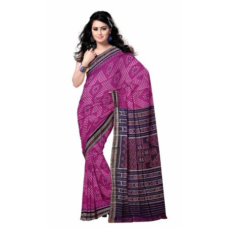 OSS7533: Handloom Pink color cotton sarees