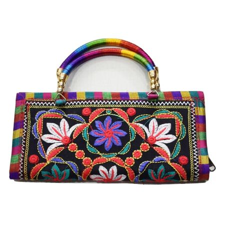 Embroidery Design Handmade Pipili Handle Purse AJ001636