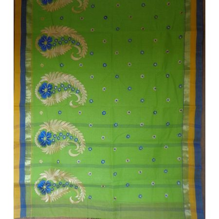 OSSWB009: Flower motif's cotton saree.