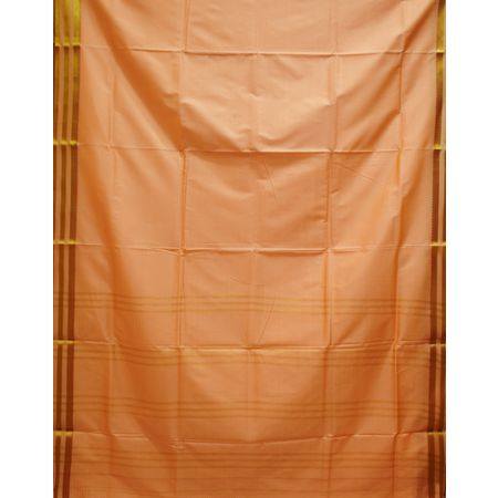 Pinkish Grey Handloom Plain Design Silk Saree of Telangana AJ001238