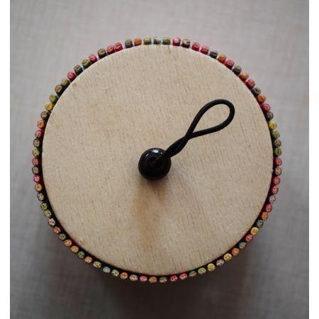 Multi Colour Round Shape Bamboo Jewellery Gift Box AJ001288