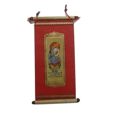 OHP054: Palm Leaf Lord Ganesha Patachitra Painting's on Red Base online