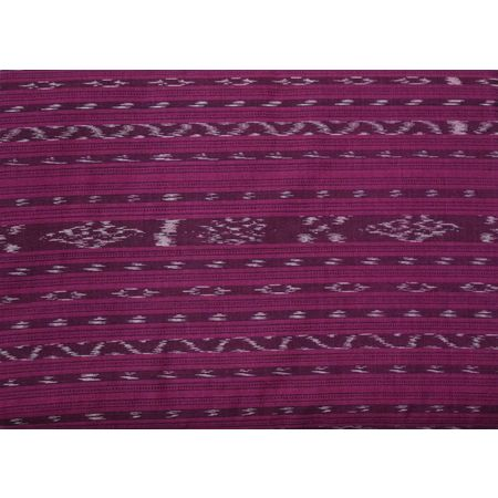 OSS6218: Magenta color Ikat design Running Material.