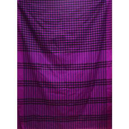 Violet With Black Handloom Cotton Saree Of West Bengal AJ001468