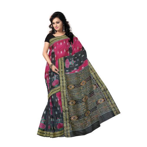 OSS5127: handloom Silk saree of sambalpur, Odisha
