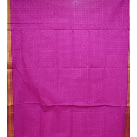 Pink Printed Handloom Cotton Dress Material of Telangana AJ001546