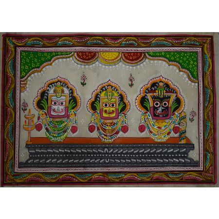 OHP051: Bada Singhar Besha of Lord Jagannath Patachitra Painting.