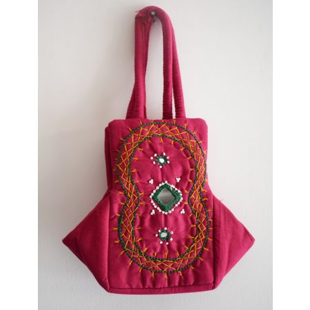 Handmade Fancy Ladies Bag With Mobile Holder AJ001253