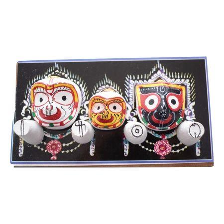 Handmade Lord Jagannath, Balabhadra, Subhadra papier mache Crafts made in Odisha Raghurajpur Puri AJ001638