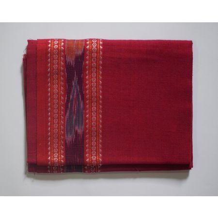 Handwoven Magenta Sambalpuri Cotton Blouse Piece AJ002061