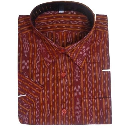 OSS8041: Maroon color handloom Cotton Shirt