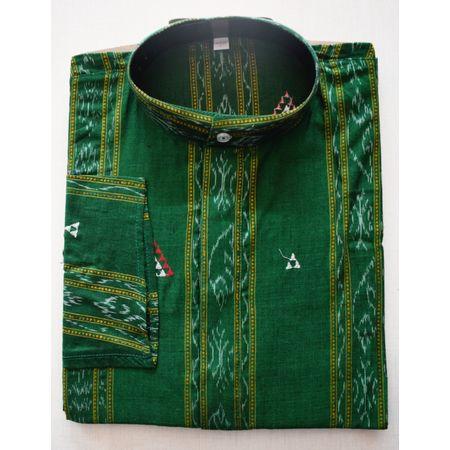 OSS8048: Ikat designs handloom Cotton Kurta (Size-40)