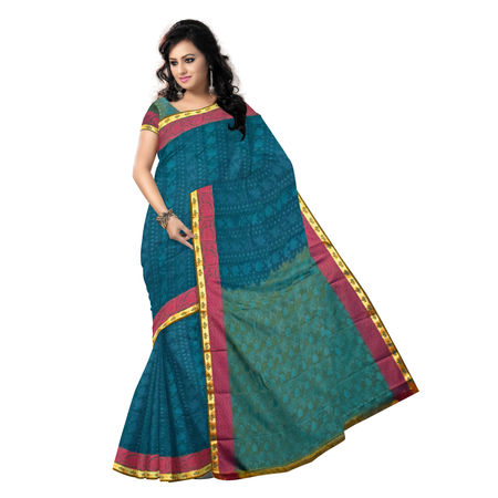 OSSAP005: Green color Kanchi Silk Saree