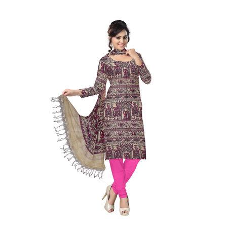 OSSBR001: Trational Mithila Painting design Bhagalpur Dress materials