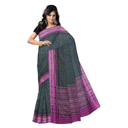 OSS9038: Traditional Green color handloom cotton sarees for festival wear