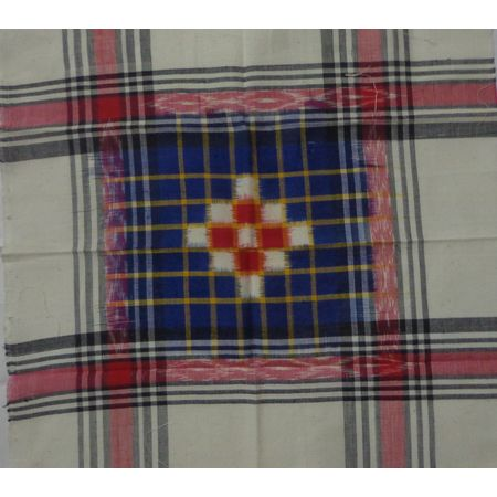 OSS499: Sambalpuri Cotton Handkerchief for your regular use (Set of 4 Handkerchiefs)