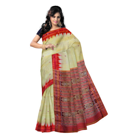 OSS5031: Light Matha color handloom silk sarees for puja wear