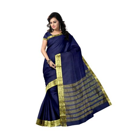 OSSMP001: Deep Ink color Maheshwari Silk Saree for party wear