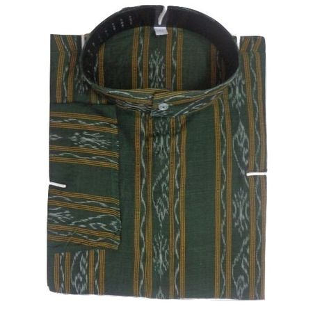 OSS8047: Latest design leaf green color Cotton Kurta