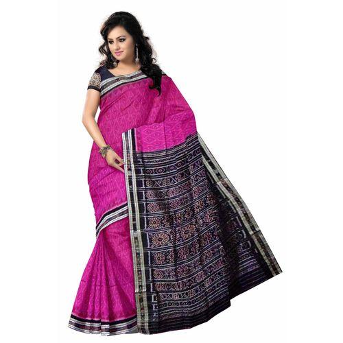 OSS040: Pink color Indian handloom cotton sarees.