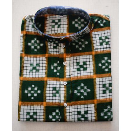 Handloom Sambalpuri Pasapalli Cotton Kurta in Multicolor AJ001196 (Size-40)