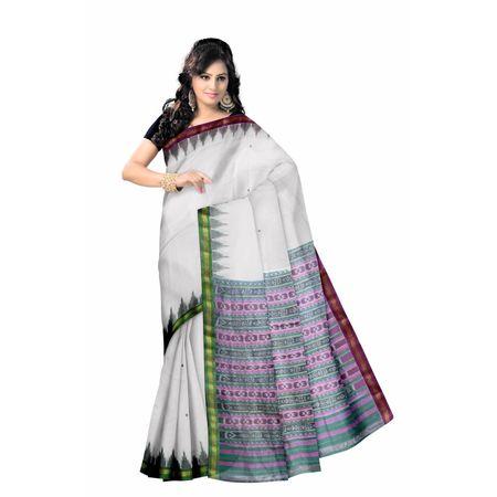 OSS223: Ganga jamuna Sambalpuri cotton sarees online shopping