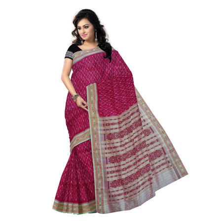 OSS208: Odisha Traditional Soft Pink Handloom sambalpuri Silk Saree