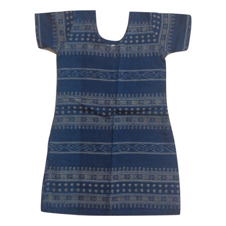 OSS8461: Handwoven Cotton Kurti for Kidswear Girls