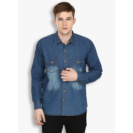 Stylox Men s Denim Blue Casual Shirt(220), 40