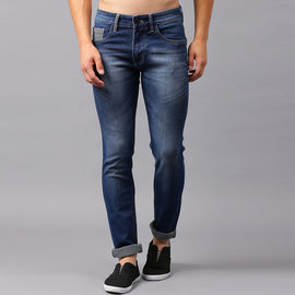 Stylox Men Blue Slim Fit Mid Rise Whisker Stretchable Jeans-DNM-DBSPRY-4144, 28