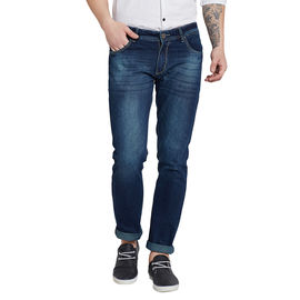 Stylox Premium Men's Stretchable Slim Fit Blue Tint Washed Jeans-DNM-BLT-4080-03, 34