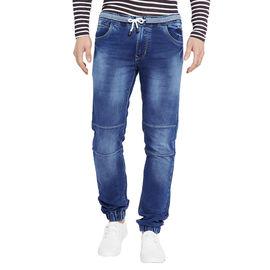 Stylox Men' s Premium Slim Fit Blue Acid Washed Stretchable Jogger-JGR-GRY-9014-01, 32