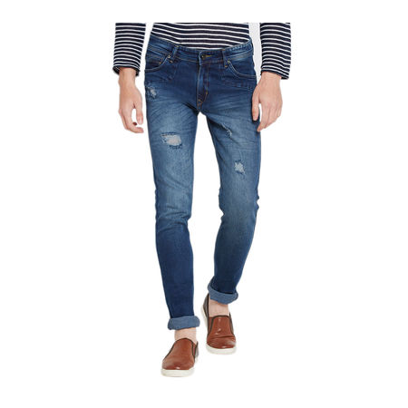Stylox Men s Premium Stretchable Slim Fit Mid Rise Light Shaded Jeans-DNM-RGDDB-4073, 28