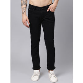 Stylox Men Black Stretchable Slim Fit Casual Wear Clean Look Jeans-DNM-BLK-4135-03, 28