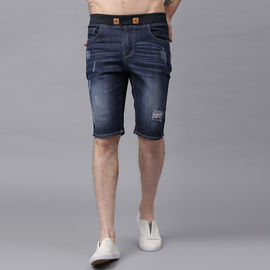 Stylox Men Blue Damages Whisker Shorts-SHORT-DBDMG-4140-08, 34