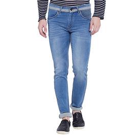 Stylox Men's Premium Light Blue Mid Rise Cleans Look Stretchable Jeans-DNM-LB-4075, 36