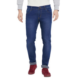 Stylox Men' s Premium Slim Fit Blue Stretchable Jeans-DNM-DSTB-4105, 30