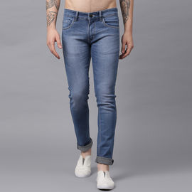 Stylox Men Mid Rise Blue Whisker Jeans-DNM-LBSPRY-4146-05, 30