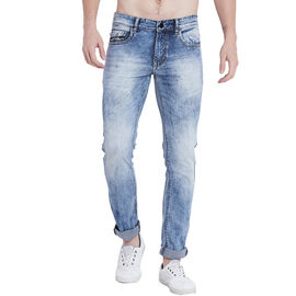 Stylox Men Light Blue Slim Fit Washed Jeans-5012, 28