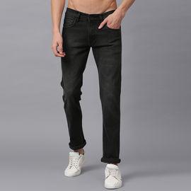 Stylox Men Mid Rise Brown Whisker Jeans-DNM-BRN-4139-01, 28