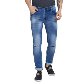 Stylox Premium Men's Stretchable Slim Fit Light Blue Washed Jeans-DNM-LB-4085-01, 30