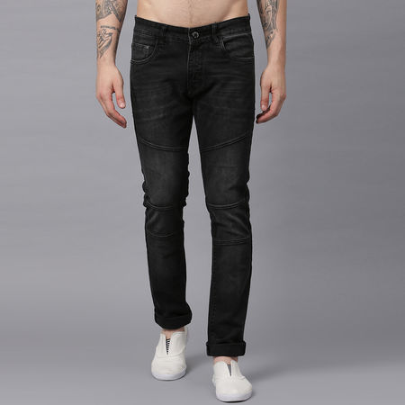 Stylox Men Mid Rise Black Spary Jeans-DNM-BLKSPRY-4145-02, 30