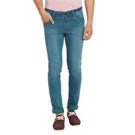 Stylox Men's Premium Stretchable Slim Fit Casual Wear Mid Rise Shaded Jeans-DNM-LG-4054, 30