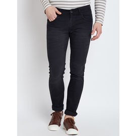 Stylox Premium Men's Stretchable Slim Fit Mid Rise Black Jeans-DNM-BBR-4107-03, 32