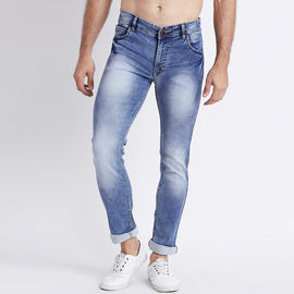 Stylox Men Slim Fit Mid Rise Light Blue Washed Jeans-5027, 28