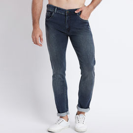 Stylox Men Slim Fit Mid Rise Blue Washed Jeans-5016, 36