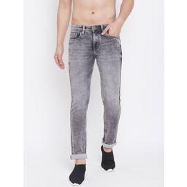 Stylox Men Slim Fit Stretchable Grey Jeans 5311-1283, 36