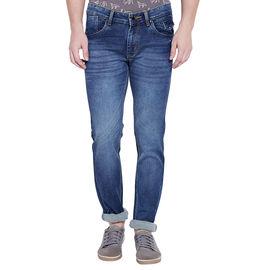 Stylox Men's Premium Light Blue Mid Rise Cleans Look Stretchable Jeans-DNM-DST-4079-01, 34