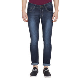 Stylox Men's Stylish Premium Stretchable Slim Fit Mid Rise Light Shaded Blue Jeans-DNM-CRT-4084-04, 30