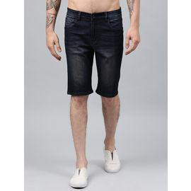 Stylox Men Brown Tint Stretchable Denim Shorts-SHORT-BRTNT-4140-01, 32